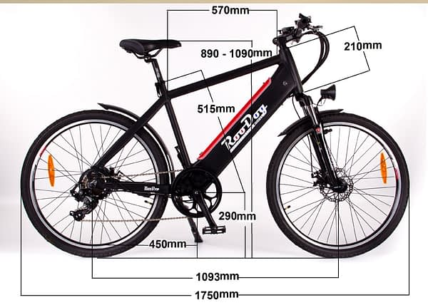 Avatar e-bike with measurements